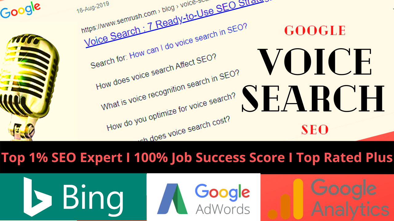You will get Google Voice Search SEO for Your Website to Get Rank in Google