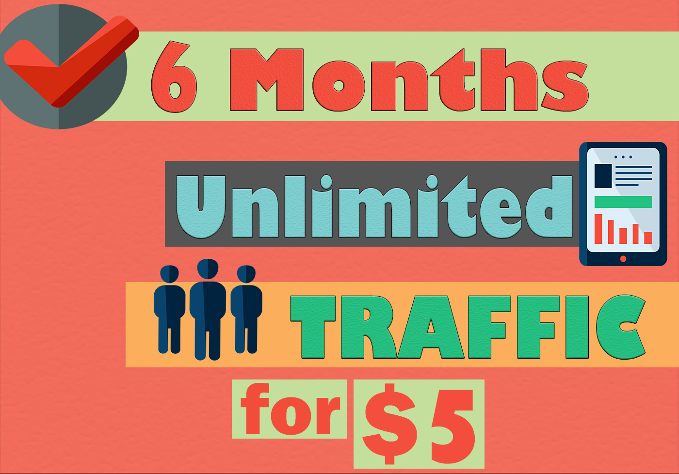 6 MONTHS UNLIMITED KEYWORD TARGETED TRAFFIC
