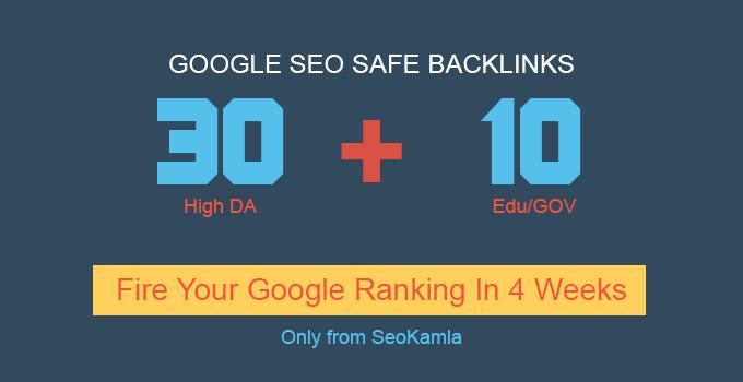 Handmade 30 High DA 100 + 10 EDU/GOV Safe SEO Backlinks 2019 Best Results