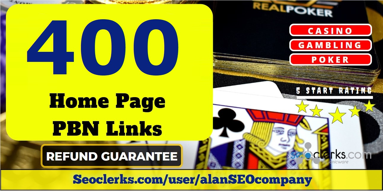 Provide you 400 PBN links from DA 65+ sites