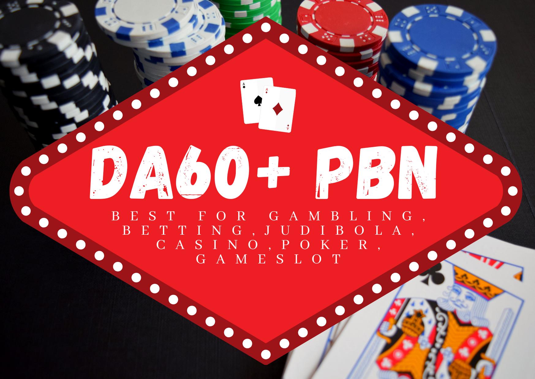 500 High DA 60+ Casino, Gambling, Poker Niche PBN Links