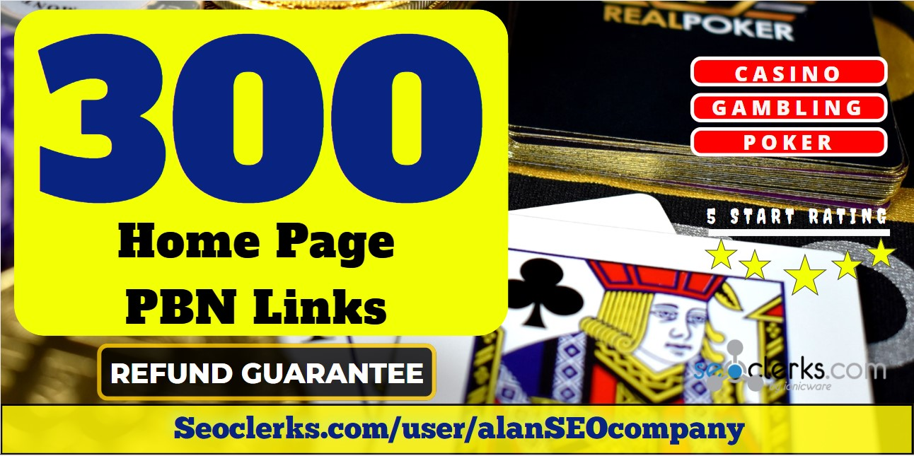 300 High DA 55+ Casino, Gambling Niche PBN Links