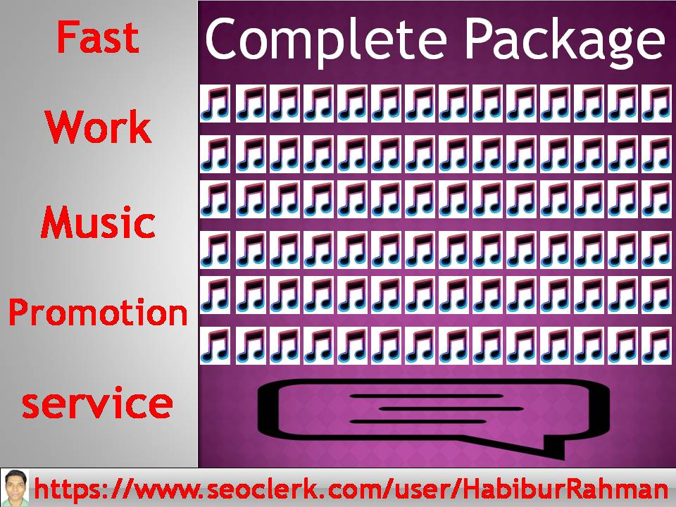 All work together music promotion in audio or song track