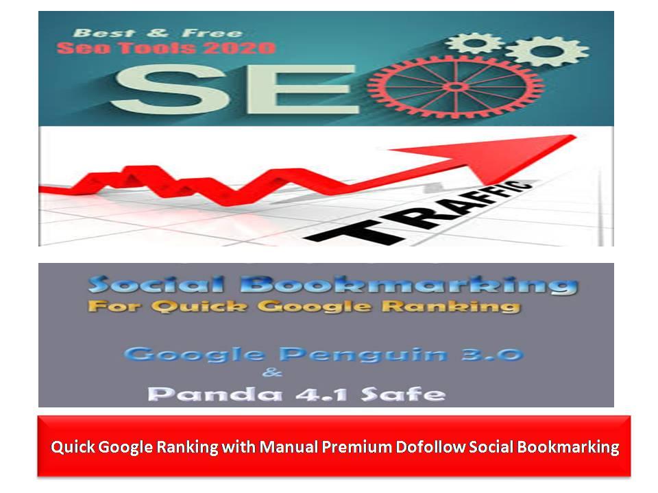 Quick Google Ranking with Manual 100 Premium Do-follow Social Bookmarking
