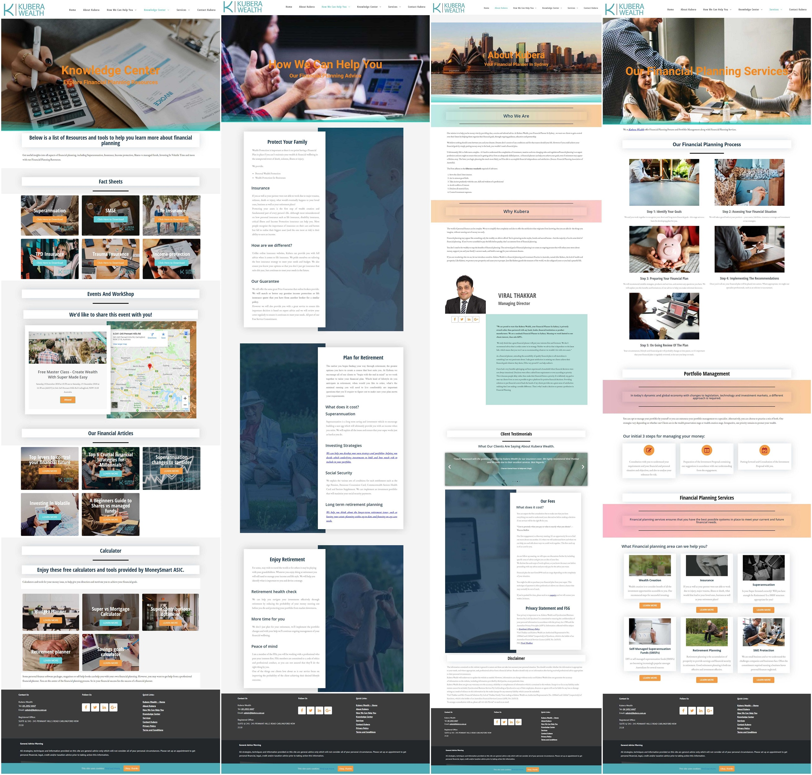 I will design business,  corporate,  financial planning website and SEO