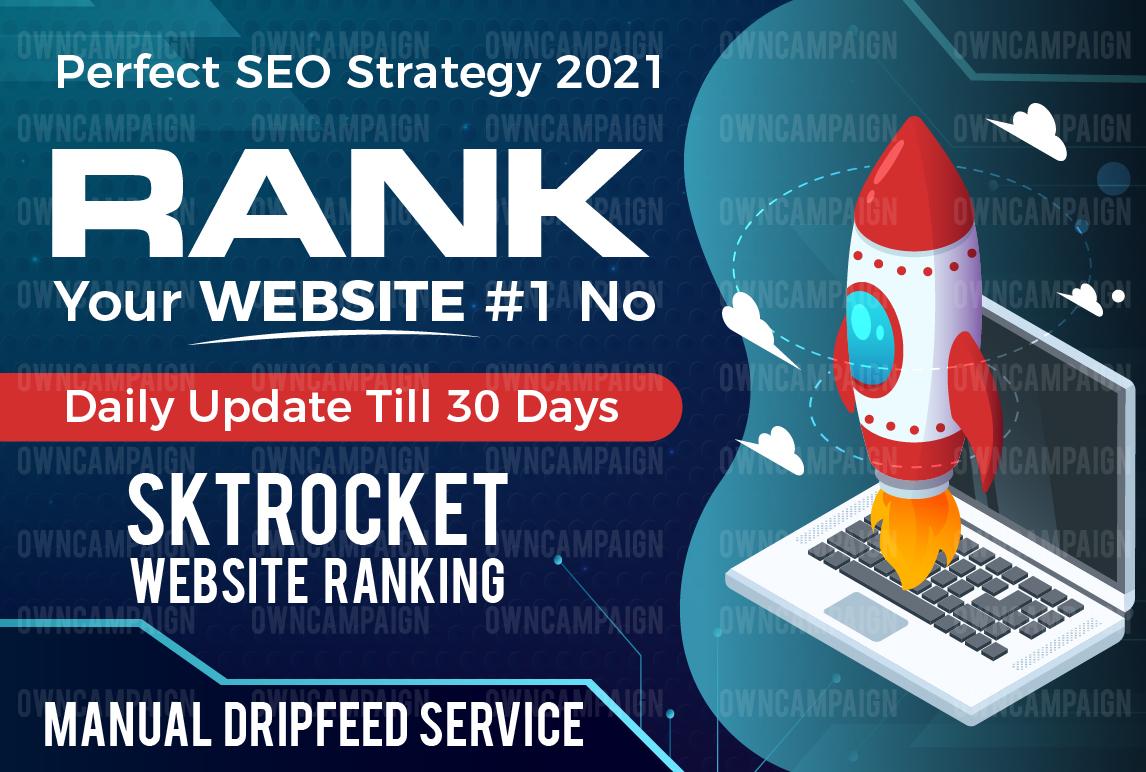 rank your website on google,  30 days drip-feed SEO backlinks