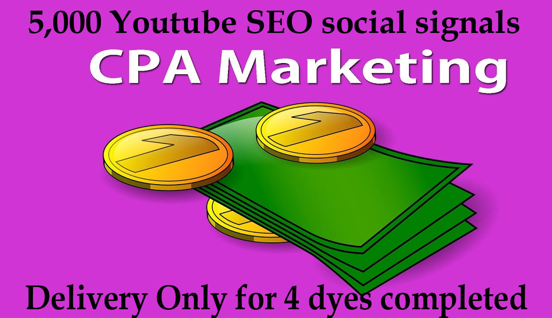 CPA-Marketing-Youtube-SEO 5-000-social-signals Video SEO Best Package