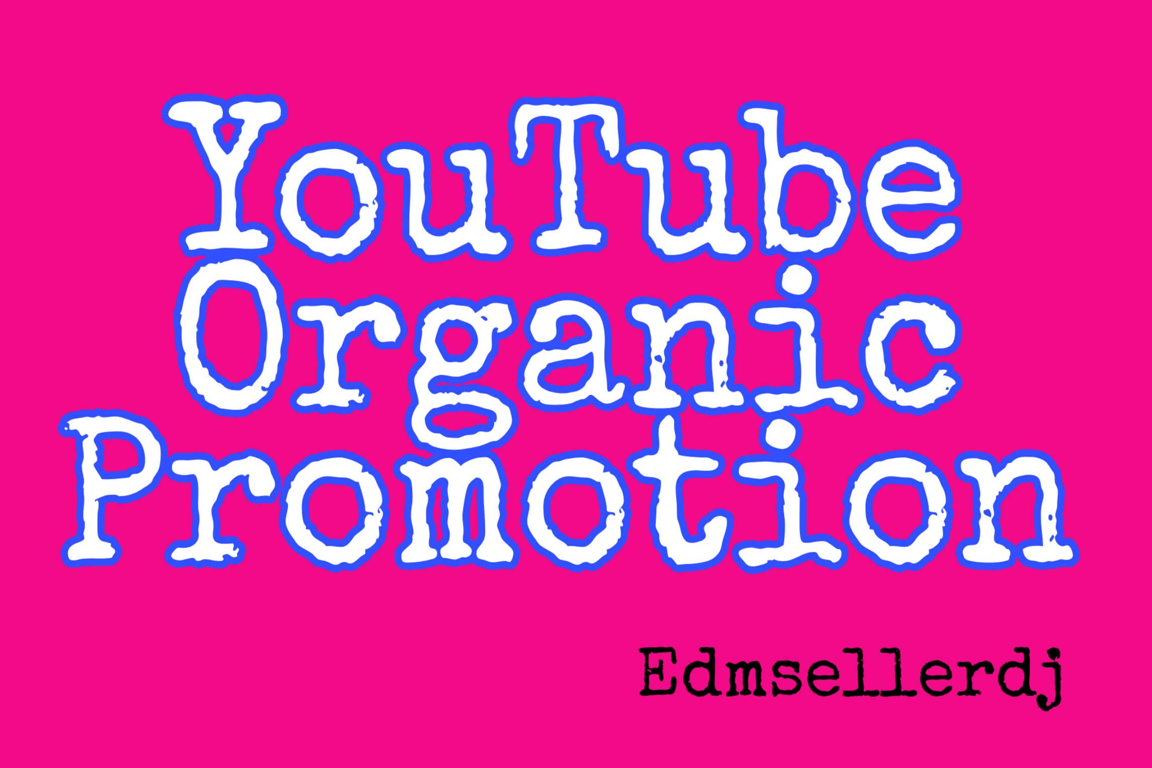 Youtube organic promotion fast via real user