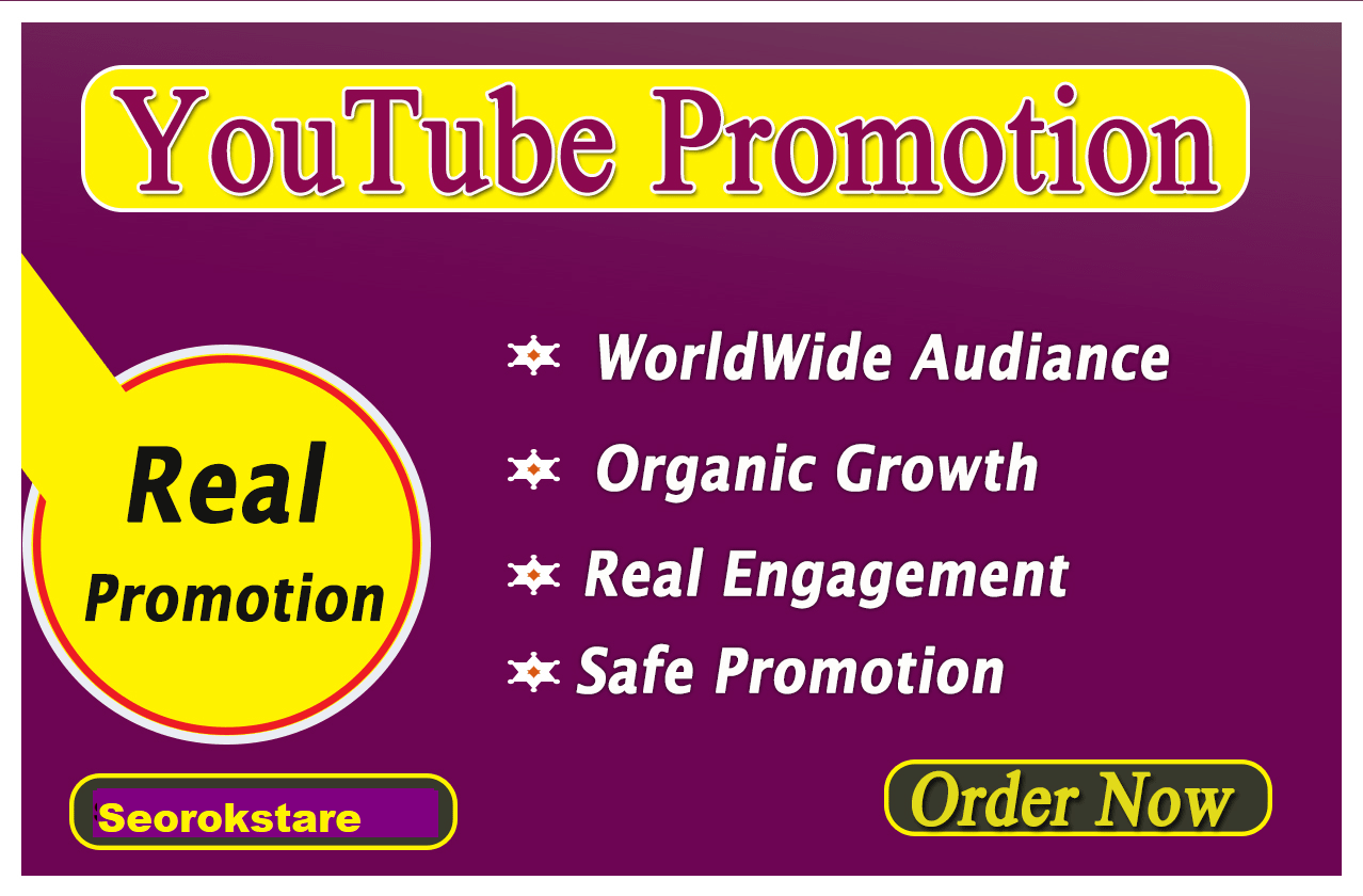 Video Promotion High Quality Audience