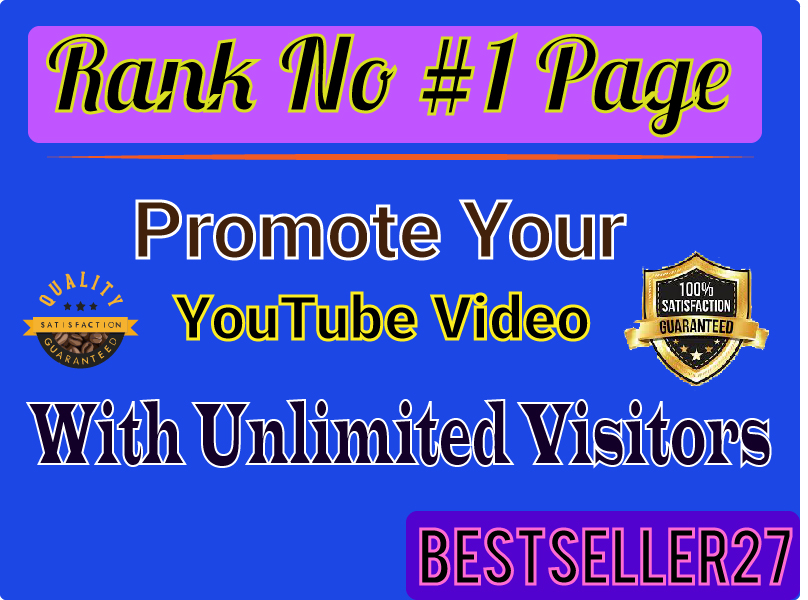 Truly Amazing real audience YouTube Video Promotions