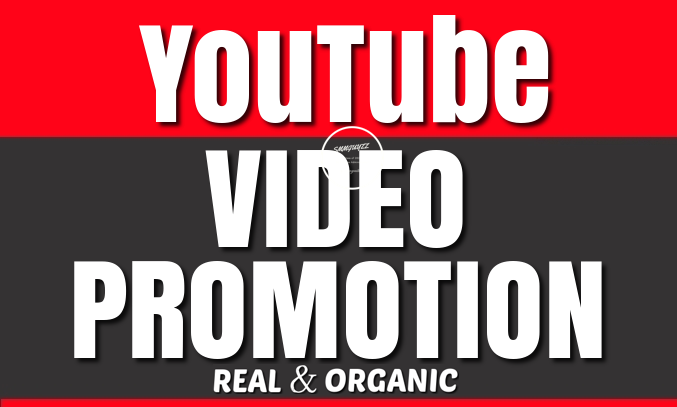YouTube Video Real and Organic Promotion to Boost your Video Ranking