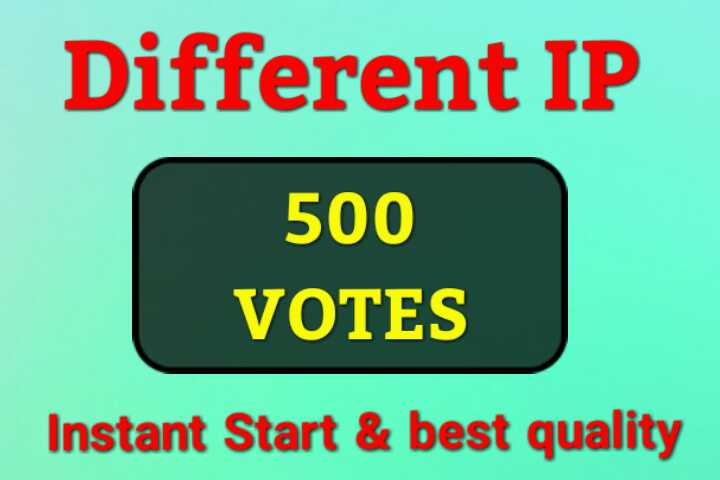 I'll Give Amazing 500 USA Different IP Votes For Any Voting Contest Poll