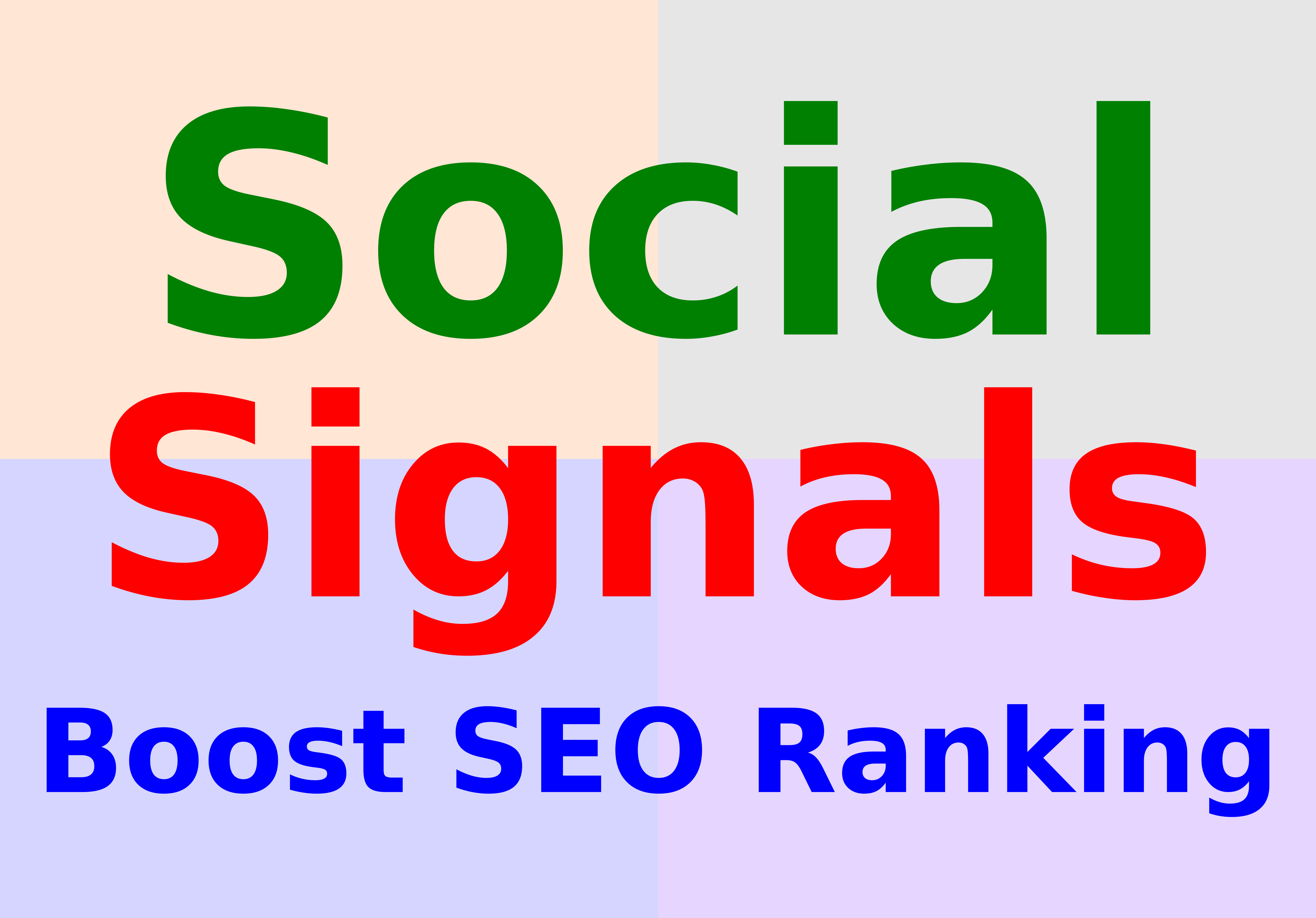 Boost SEO ranking using 2000 organic social signals