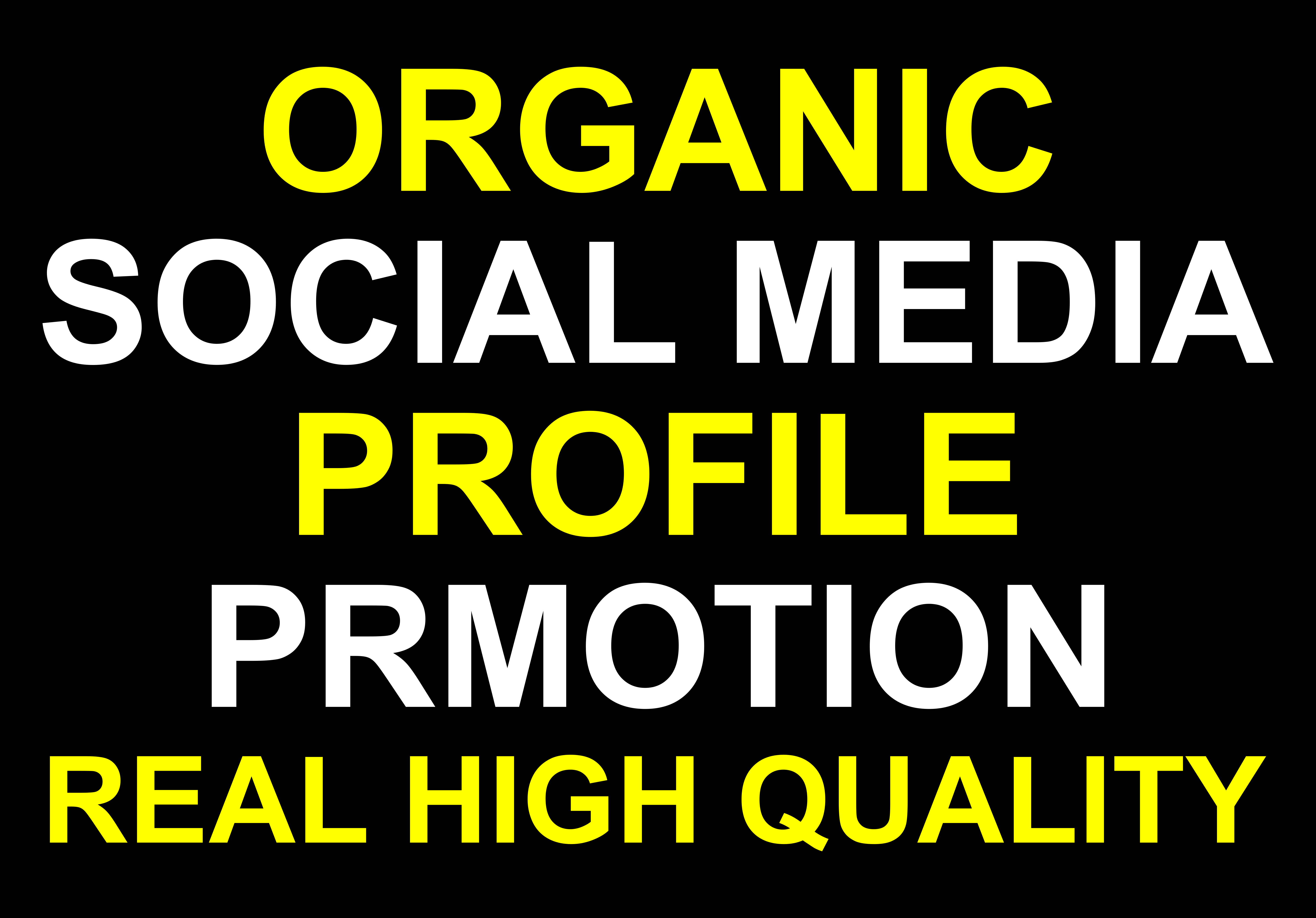 Promote and advertise your social profile