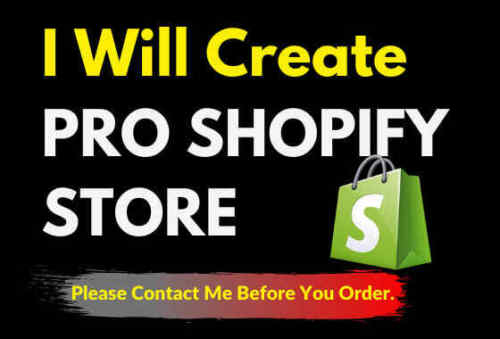 I will create shopify dropshipping store or printful store
