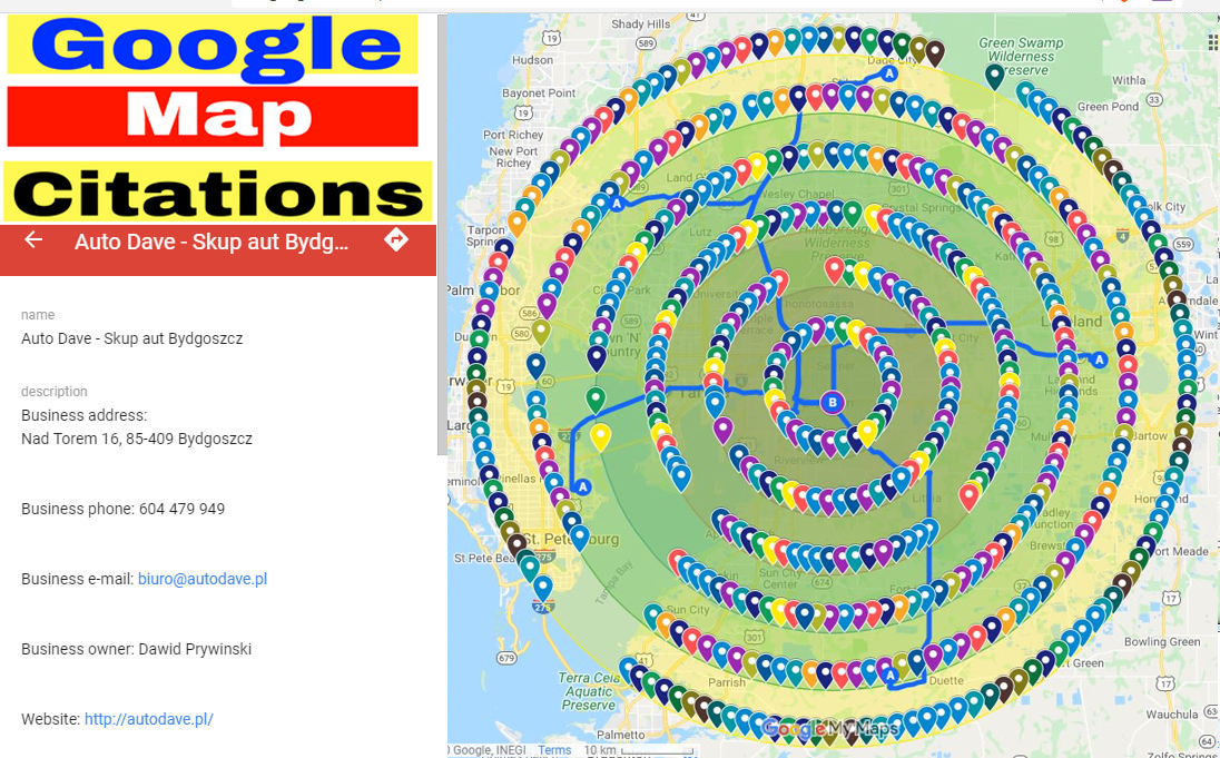 I will Create Manually 18,000 Google map points citations for local SEO and GMB ranking