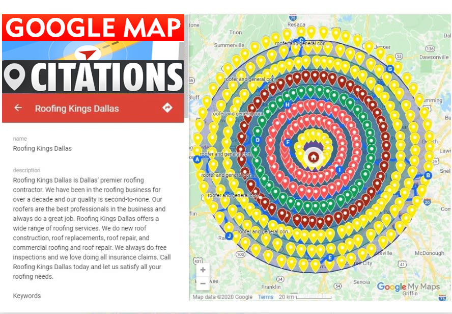 I will Create Manually 9,000 Google map points citations for local SEO and GMB ranking