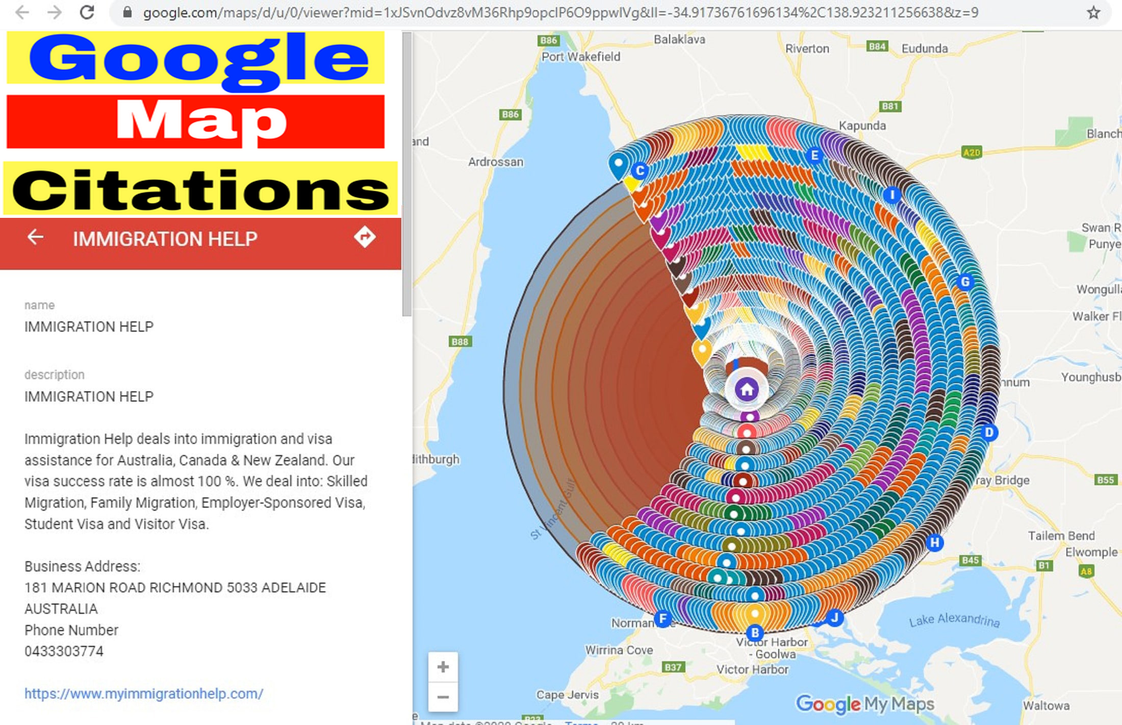 I Will Create Manually 7,000 Google Map Points Citations for local SEO.