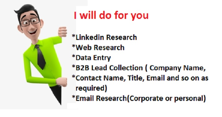 I will do b2b verified lead generation and web research