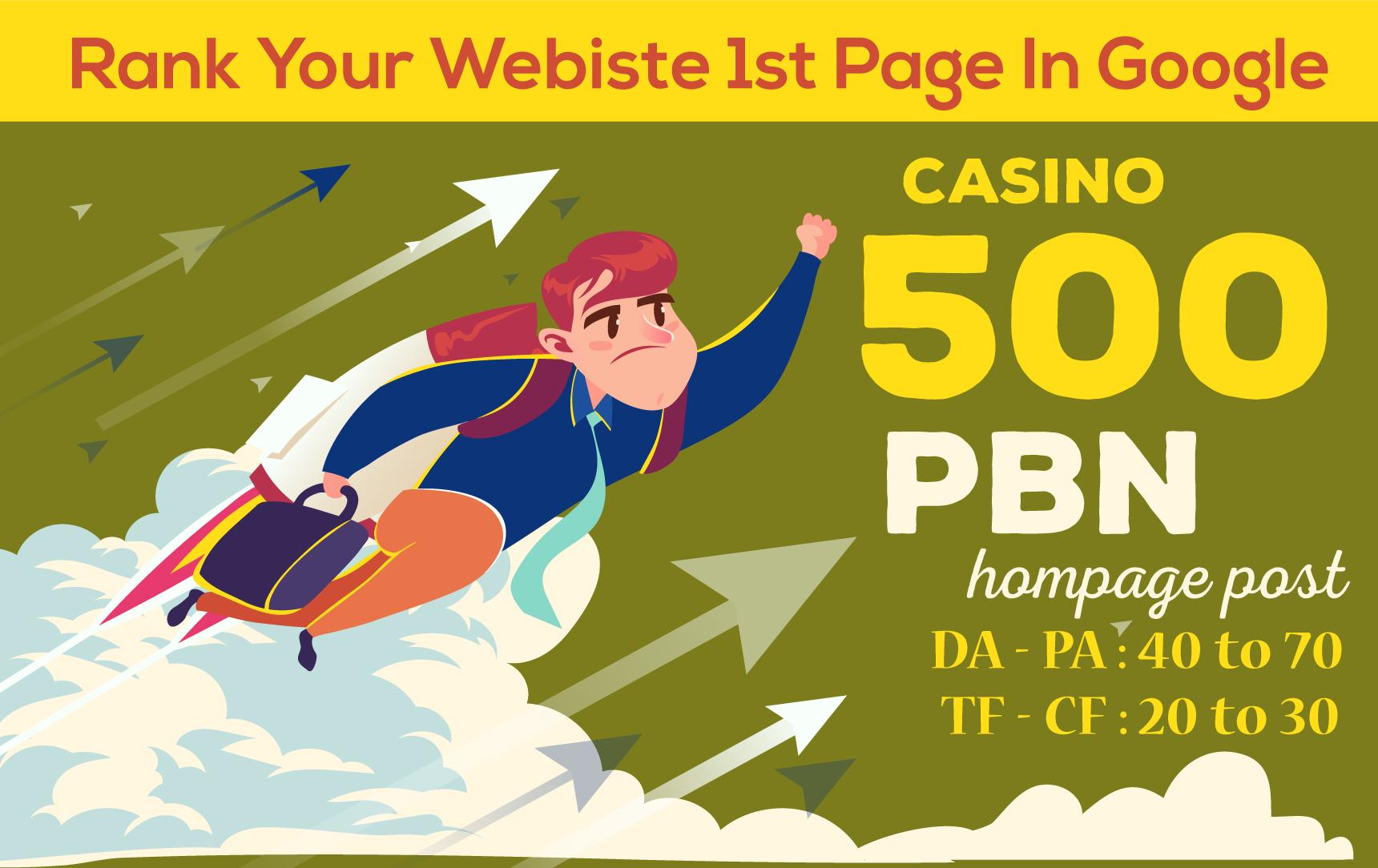 Do 500 DA50+ Casino Poker Betting Gambling PBN Backlinks Online Casino Blogs