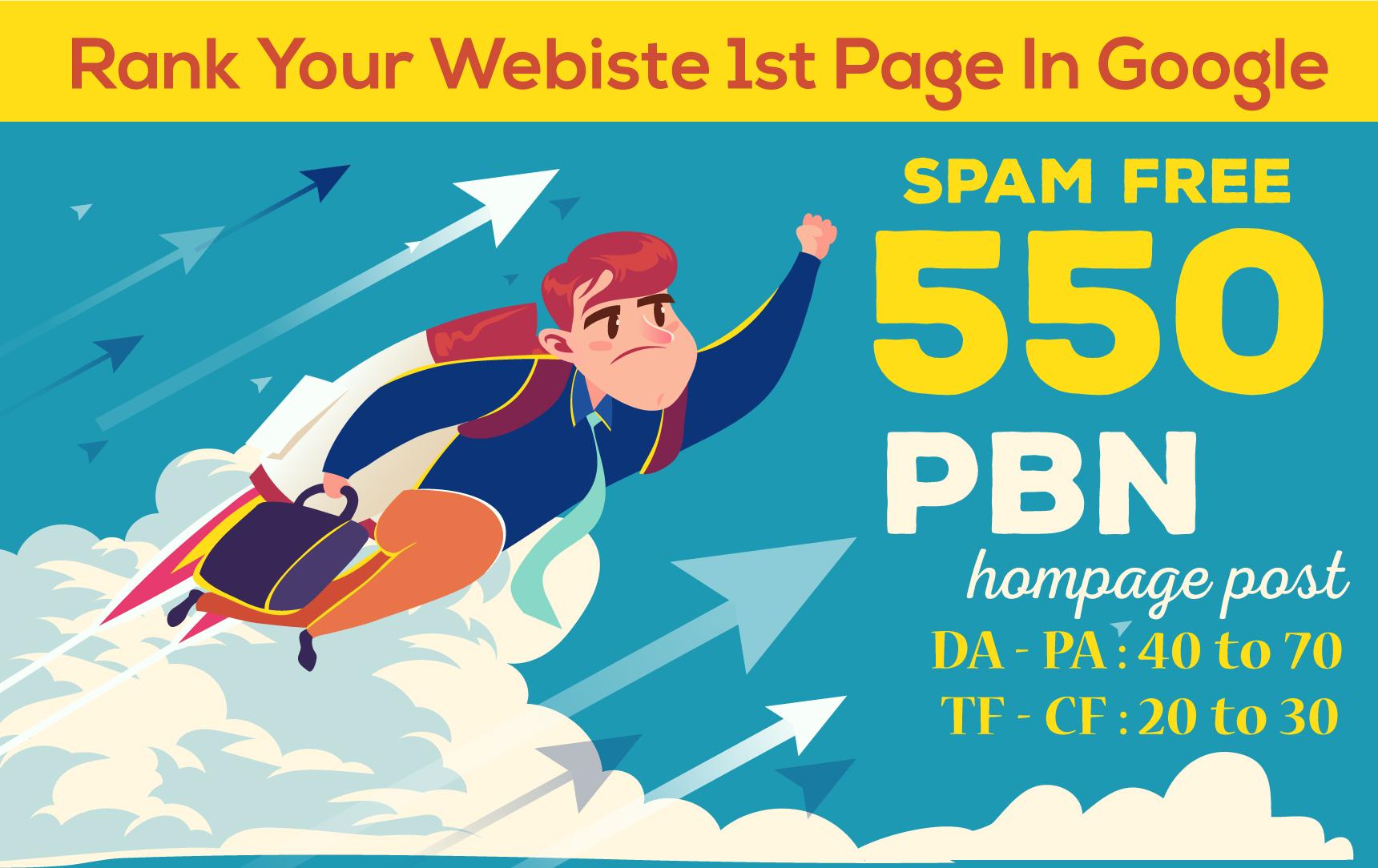 550 DA50+ High Quality PBN Backlinks On High Metric Domains