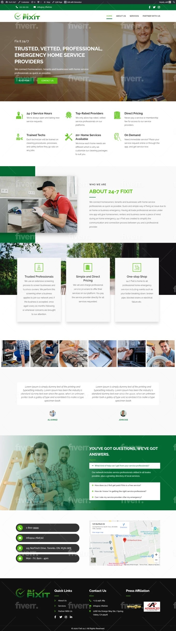 Design A Professional And Responsive Wordpress Website