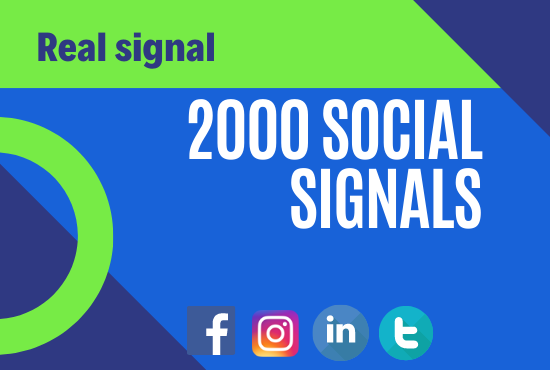 i will do 2000 social signals seo friendly