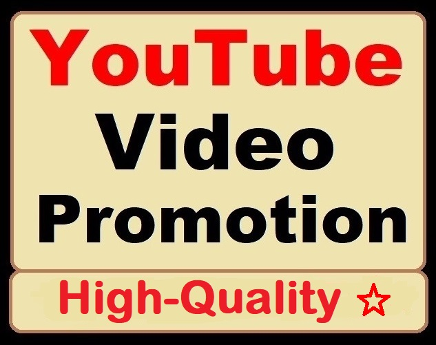 YouTube Video Organic Promotion and Marketing Services