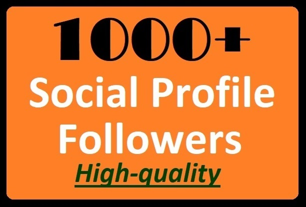 1000+ Social Media Profile Followers High quality Promotion