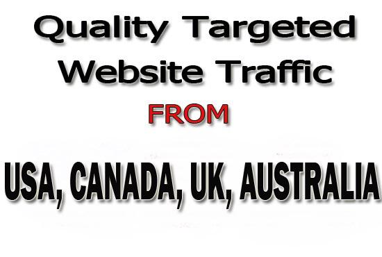 Drive Real 30,000 Web Traffic From USA,  CANADA,  UK,  AUSTRALIA