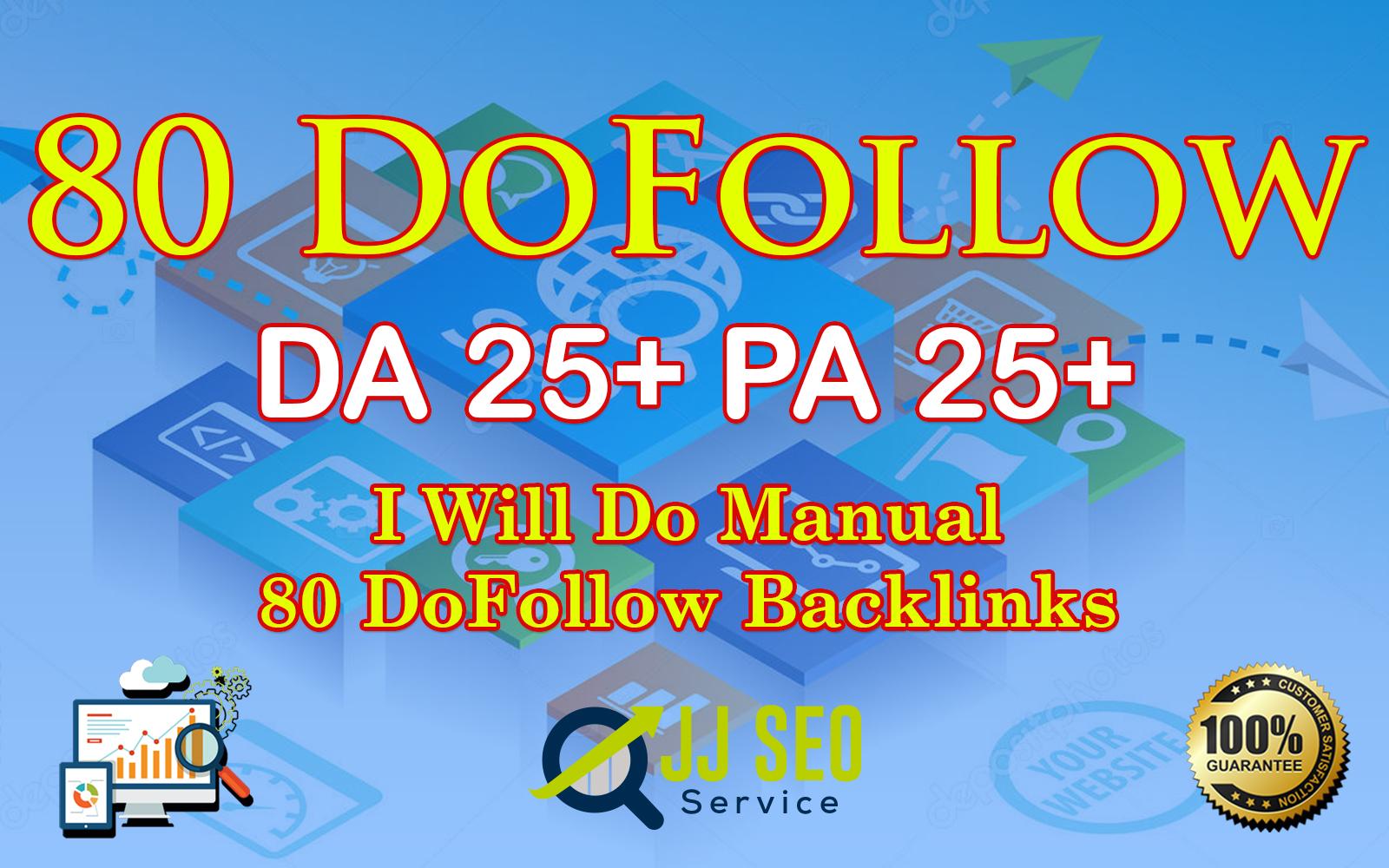 Do 80 doFollow Backlinks blog comment Service