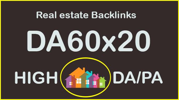 Give 20 REAL ESTATE sites Backlink Blogroll Permanent