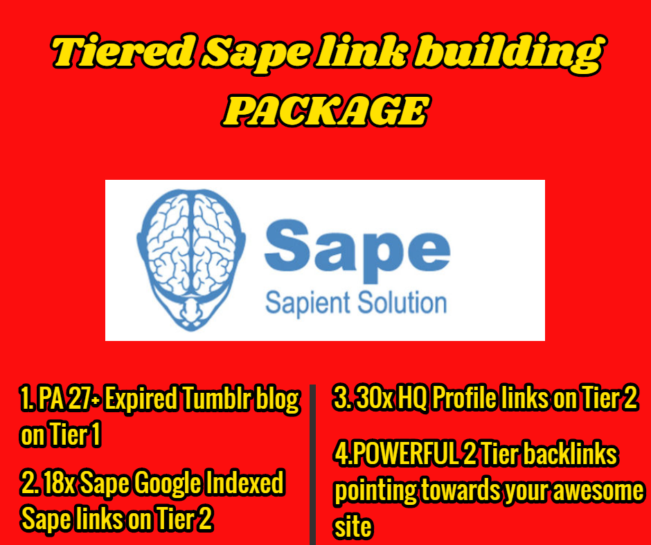 STEROID Tiered TF 20+ DA 20+ Sape link building