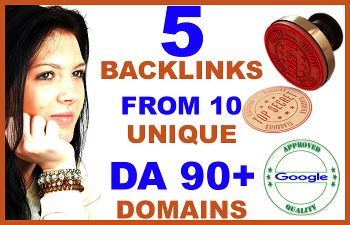 Rank On Google - 5 High DA 90+ Profile Backlinks From 5 Unique Domains