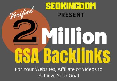 2 Million GSA SEO Backlinks for Increase Your Link Juice