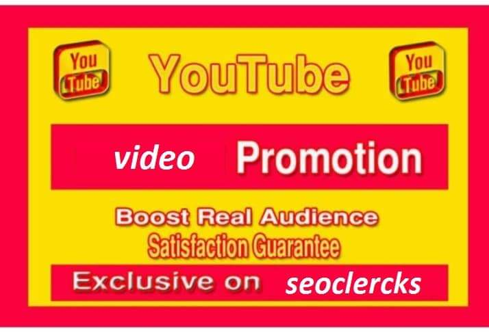 Good YouTube Video Promotion Marketing