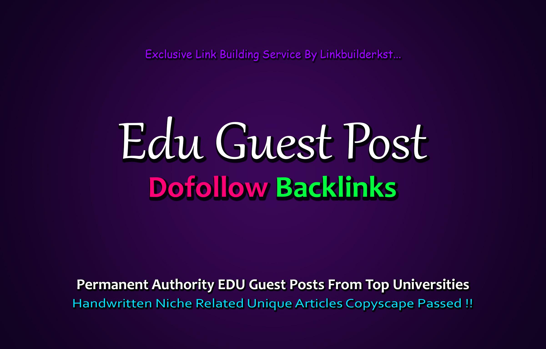 20 EDU Backlinks Manually Created From Big Universities Websites DA 90-60