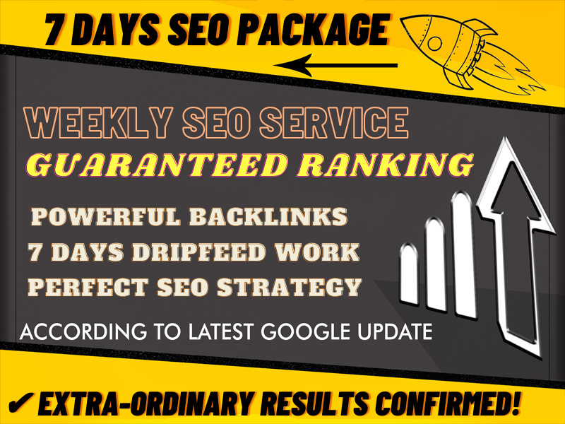 Weekly Super Booster Backlinks Package By Alicemarc12 SKYROCKET Your Money Site