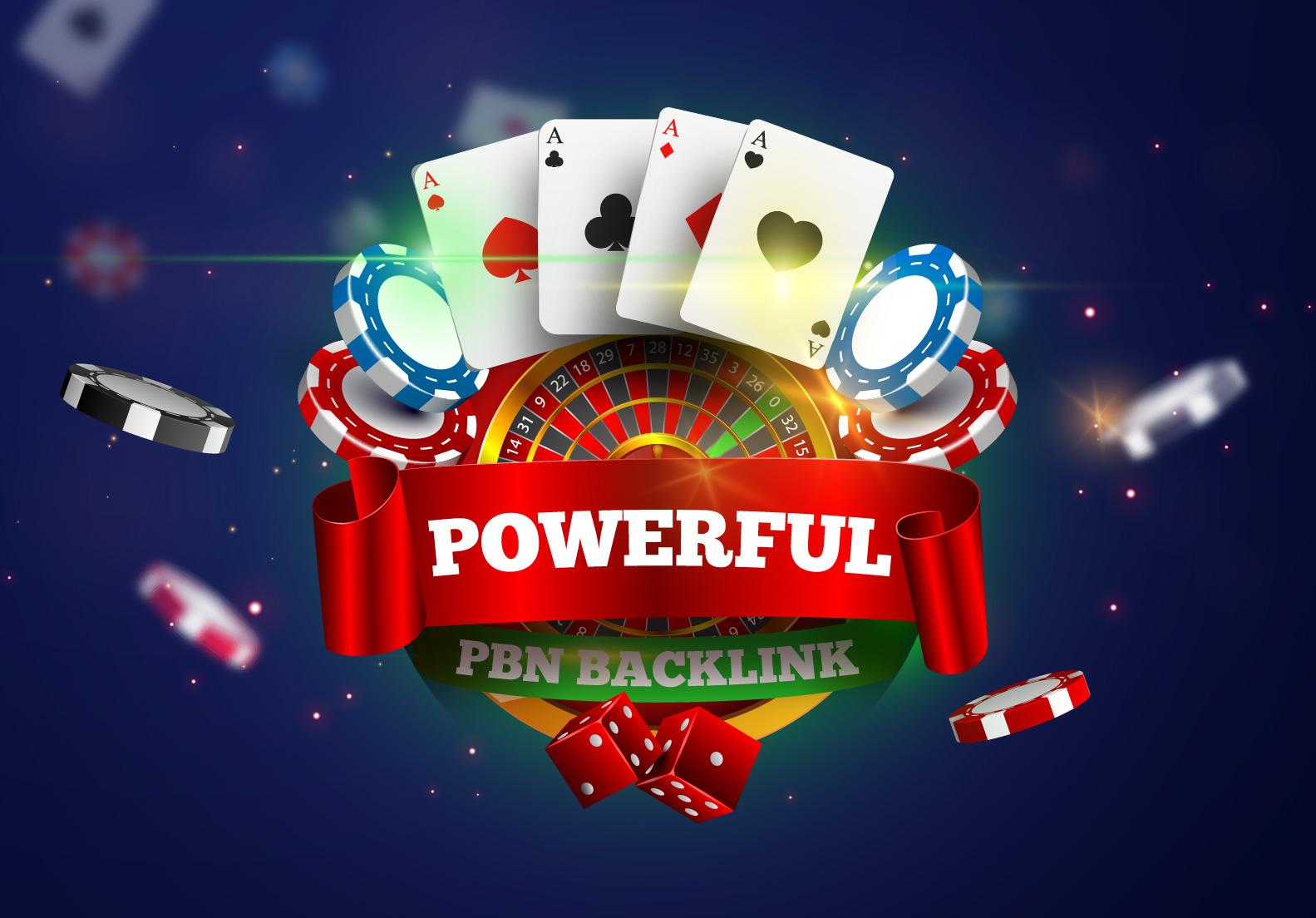 Rank your website with 999 PBNs Casino Online Poker Esports Betting Gambling Websites