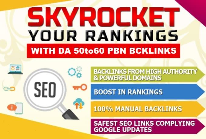 Build 5 PBNs DA50to60 Homepage Dofollow Backlinks
