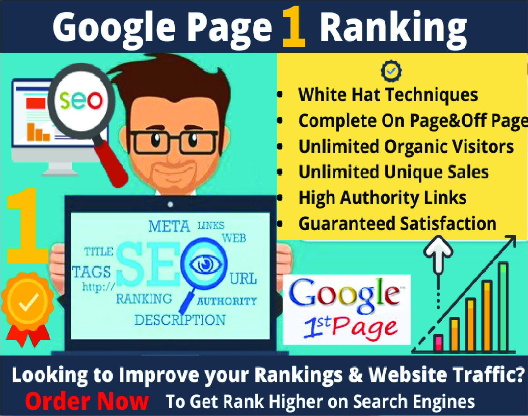I will rank your website at first page on google