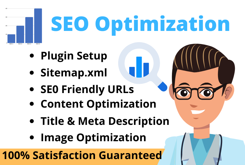 I will do SEO optimization for your website ranking on google