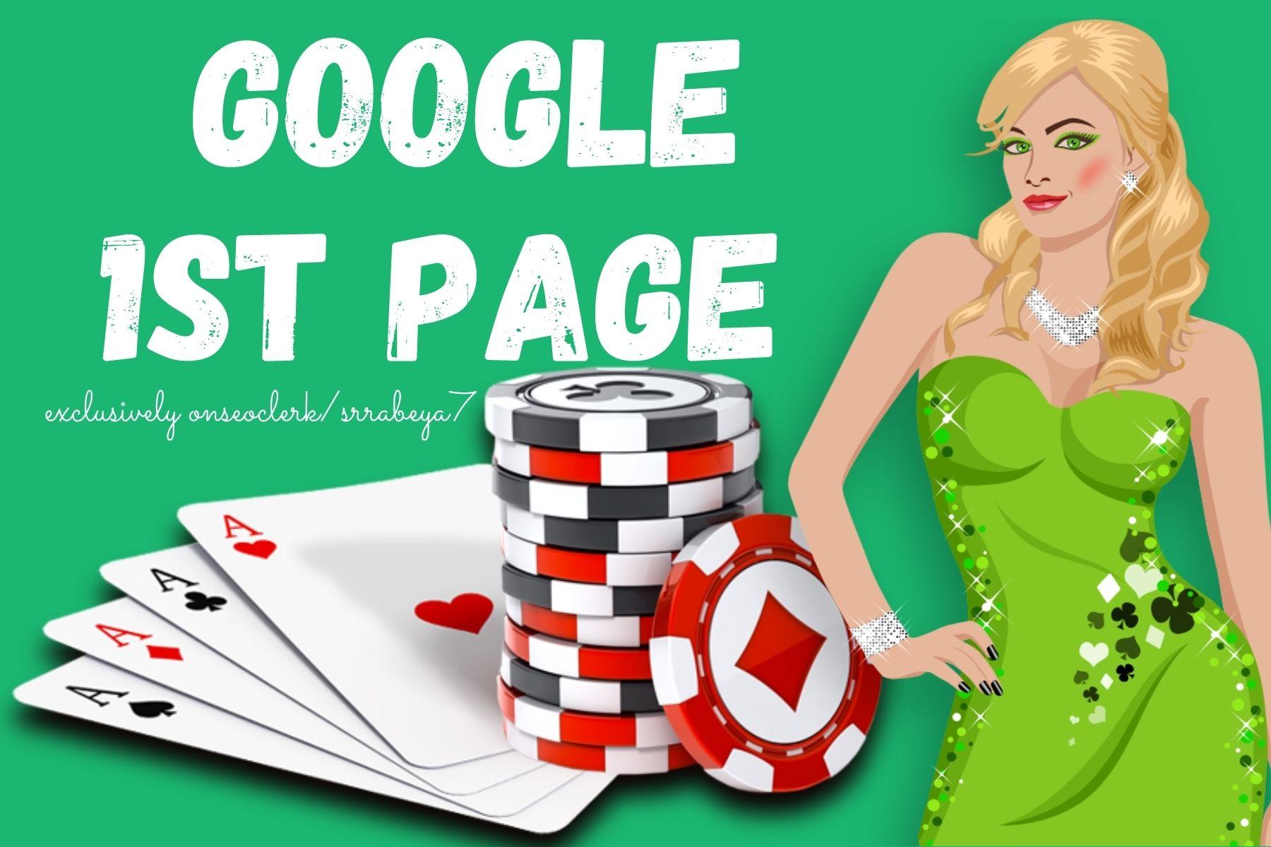 Poker/Casino 1st page of Google Combo Power SEO Ranking Guaranteed