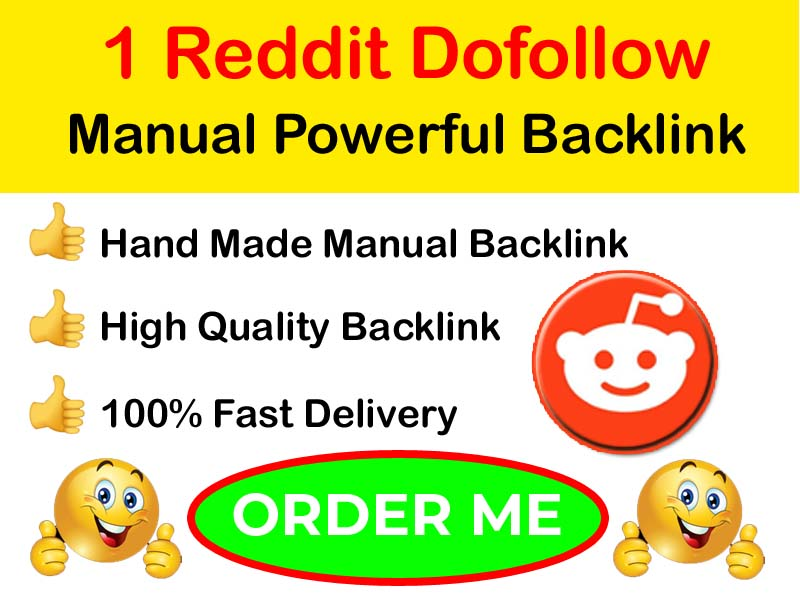 1 Powerful Reddit High Quality and Permanent Backlink
