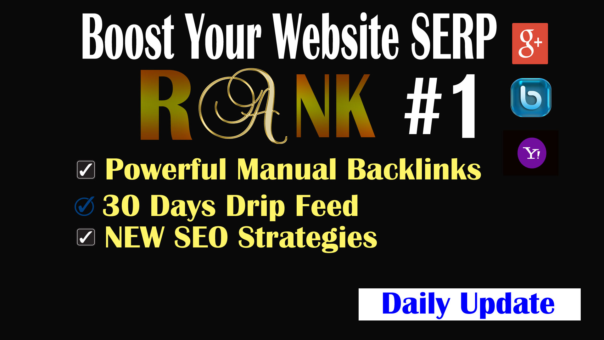 Rank - SUPER QUALITY Ranking to Skyrocket Website FAST with BONUS - Updated Manual Authority links