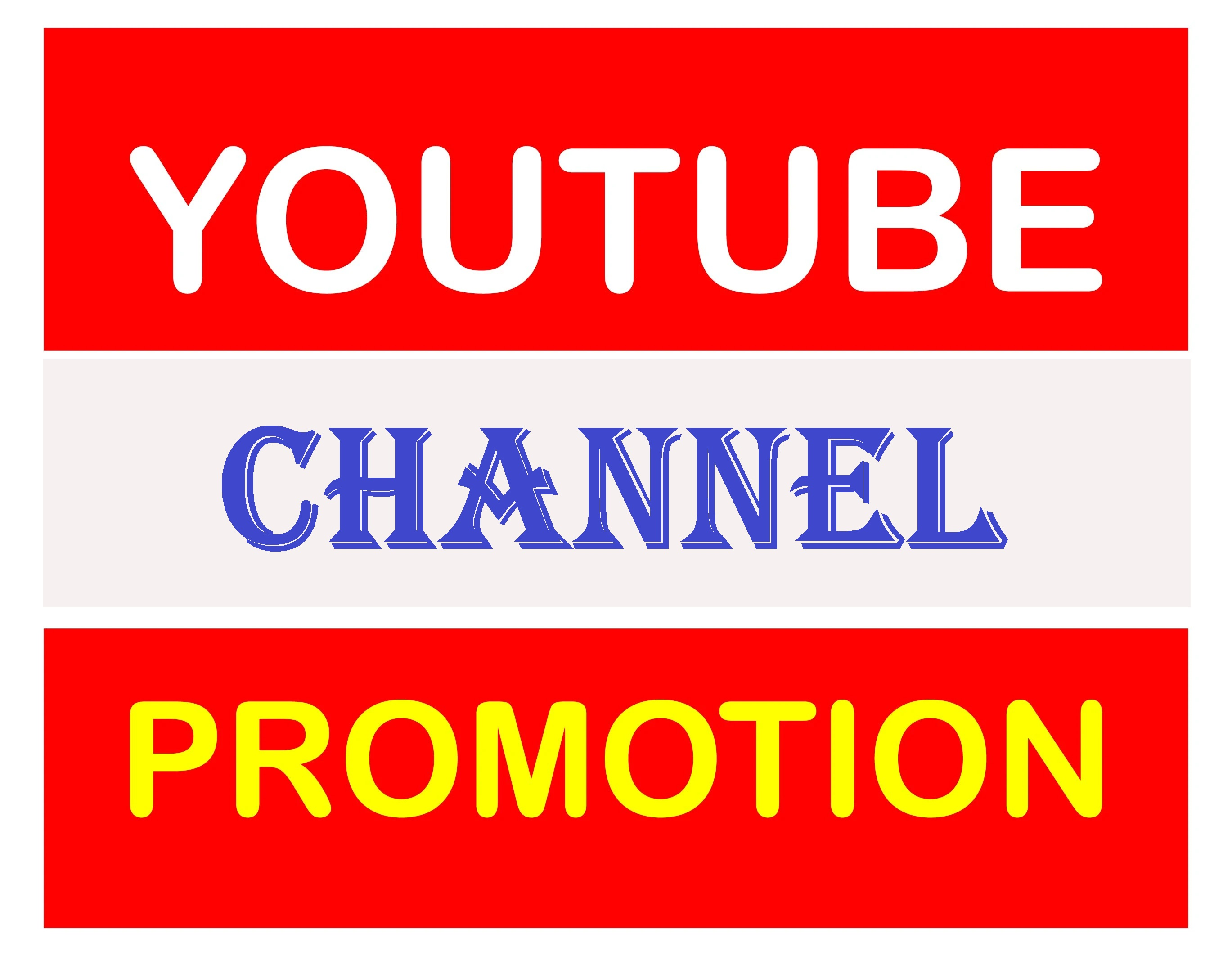 YouTube Account Promotions Via World Wide Real User Manually & Safe