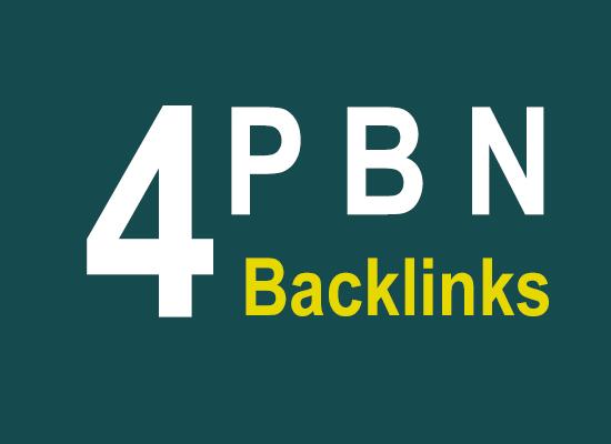 Manually 4+ HQ SEO PBN Backlinks