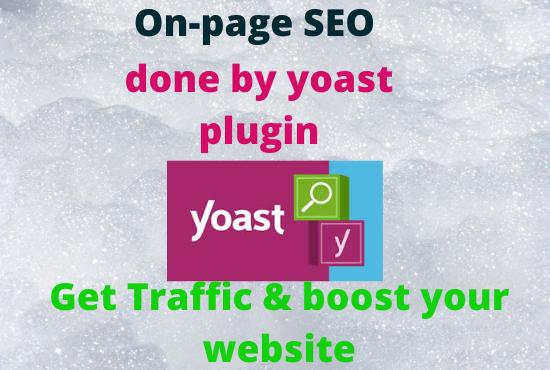 I will do website onpage optimization by yoast seo plugin