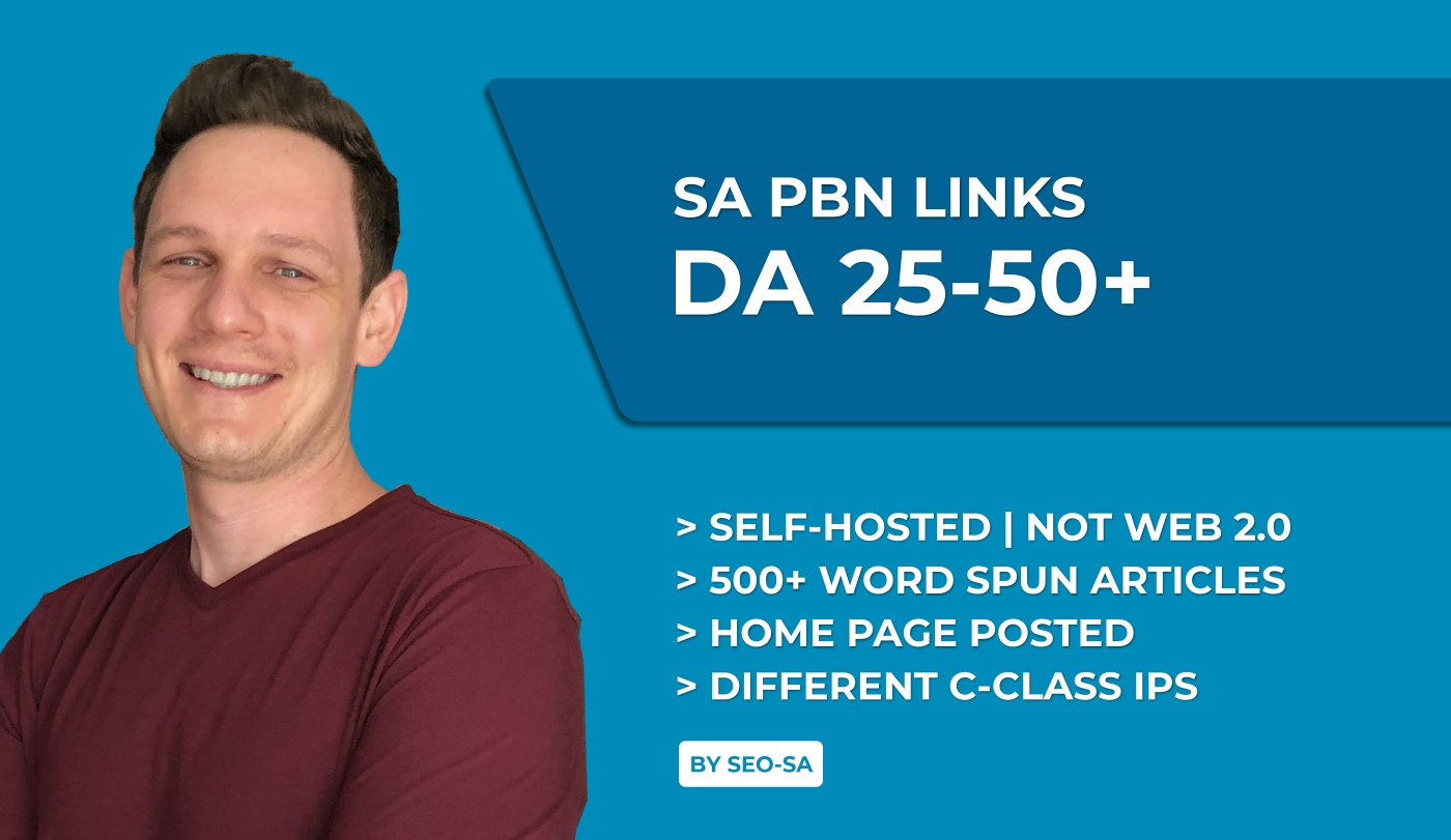 Manually Create 5 x Unique Domain High DA/PA South African PBN Backlinks