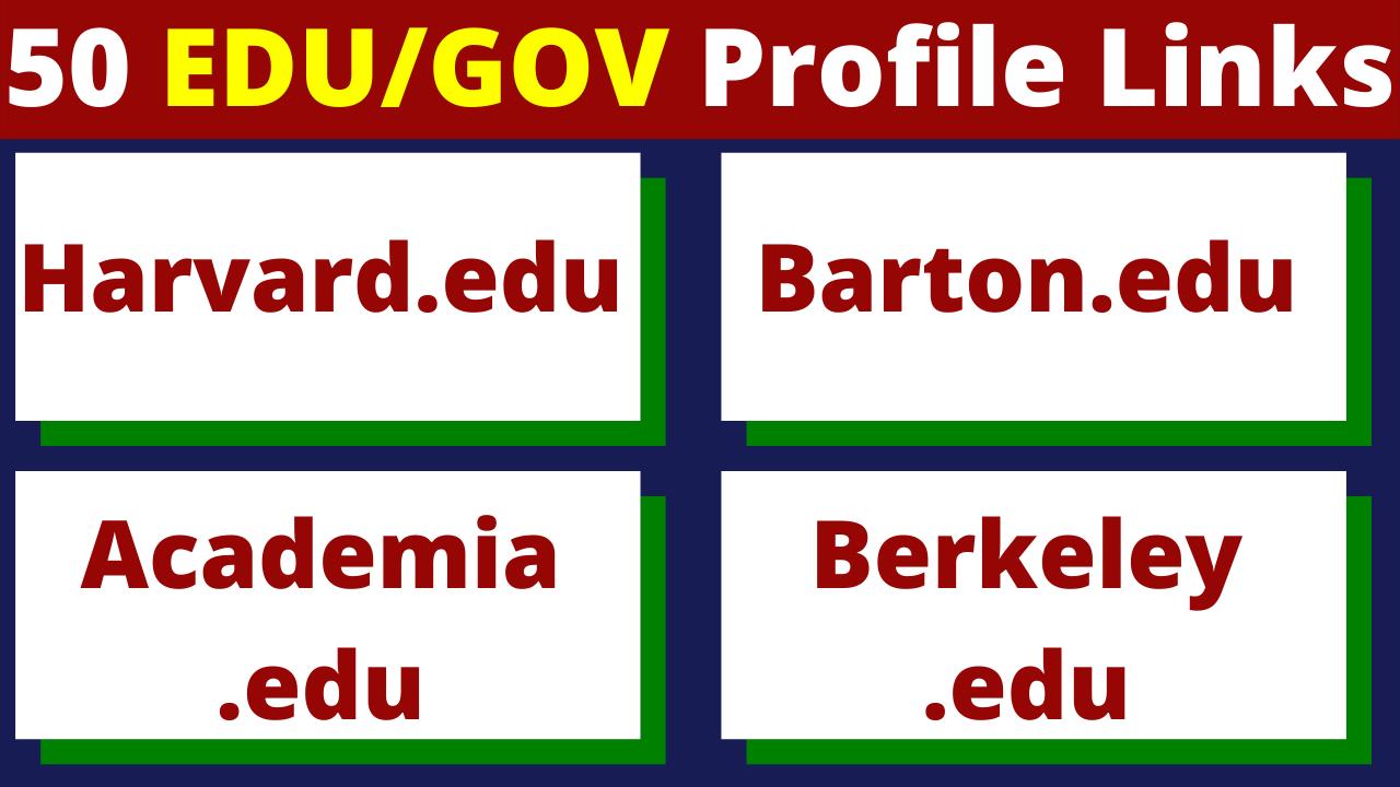 50+ EDU Backlinks Manually Created From Big US Universities